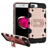 Military Grade Certified Storm Tank Hybrid Armor Case with Stand for iPhone 8 Plus / 7 Plus / 6S Plus / 6 Plus - Rose Gold