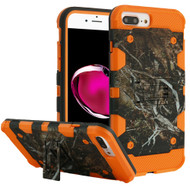 Military Grade Certified Storm Tank Hybrid Armor Case with Stand for iPhone 8 Plus / 7 Plus / 6S Plus / 6 Plus - Tree Camouflage Orange