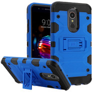 Military Grade Certified Storm Tank Hybrid Armor Case with Stand for LG K30 - Blue