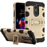 Military Grade Certified Storm Tank Hybrid Armor Case with Stand for LG K30 - Gold