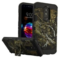 Military Grade Certified Storm Tank Hybrid Armor Case with Stand for LG K30 - Tree Camouflage