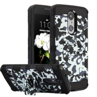 Military Grade Certified Storm Tank Hybrid Armor Case for LG Aristo 2 / Fortune 2 / Tribute Dynasty / Zone 4 - Camouflage