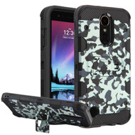 Military Grade Certified Storm Tank Hybrid Armor Case with Stand for LG K20 Plus / K20 V / K10 (2017) / Harmony - Camouflage