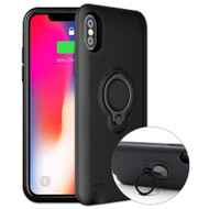 Smart Power Bank Battery Charger Case 5000mAh with Ring Holder for iPhone XS / X - Black