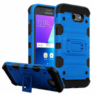 Military Grade Certified Storm Tank Hybrid Armor Case with Stand for Samsung Galaxy J3 (2017) / J3 Emerge / J3 Prime / Amp Prime 2 - Blue