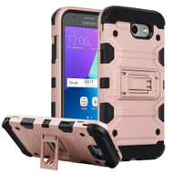 Military Grade Certified Storm Tank Hybrid Armor Case with Stand for Samsung Galaxy J3 (2017) / J3 Emerge / J3 Prime / Amp Prime 2 - Rose Gold
