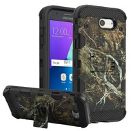 Military Grade Certified Storm Tank Hybrid Armor Case with Stand for Samsung Galaxy J3 (2017) / J3 Emerge / J3 Prime / Amp Prime 2 - Tree Camouflage