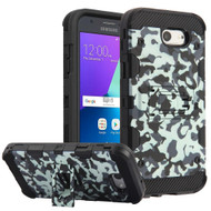 Military Grade Certified Storm Tank Hybrid Armor Case with Stand for Samsung Galaxy J3 (2017) / J3 Emerge / J3 Prime / Amp Prime 2 - Camouflage