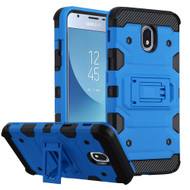 Military Grade Certified Storm Tank Hybrid Armor Case with Stand for Samsung Galaxy J3 (2018) - Blue