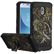 Military Grade Certified Storm Tank Hybrid Armor Case with Stand for Samsung Galaxy J3 (2018) - Tree Camouflage