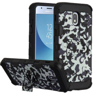 Military Grade Certified Storm Tank Hybrid Armor Case with Stand for Samsung Galaxy J3 (2018) - Camouflage