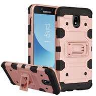 Military Grade Certified Storm Tank Hybrid Armor Case with Stand for Samsung Galaxy J7 (2018) - Rose Gold