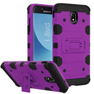 Military Grade Certified Storm Tank Hybrid Armor Case with Stand for Samsung Galaxy J7 (2018) - Purple
