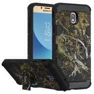 Military Grade Certified Storm Tank Hybrid Armor Case with Stand for Samsung Galaxy J7 (2018) - Tree Camouflage