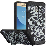 Military Grade Certified Storm Tank Hybrid Armor Case with Stand for Samsung Galaxy J7 (2018) - Camouflage