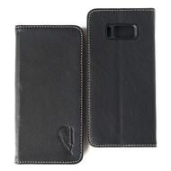 Genuine Leather Rfid Wallet Case for Samsung Galaxy S8 Plus - Black