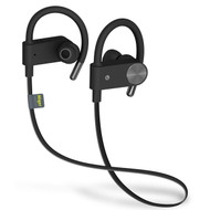 *SALE* IPX7 Sweatproof Bluetooth V4.1 Wireless Earhook Headphones with Microphone - Black