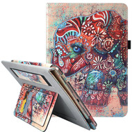 Workman Smart Leather Folio Case with Stand and Hand Strap for iPad (2018/2017) / iPad Air 2 / iPad Air - Elephant
