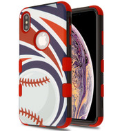 Military Grade Certified TUFF Hybrid Armor Case for iPhone XS Max - Batter Up