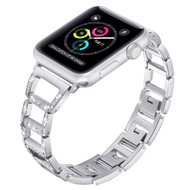 Chic Design Diamond Chain Stainless Steel Watch Band for Apple Watch 44mm / 42mm - Silver