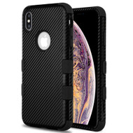 Military Grade Certified TUFF Hybrid Armor Case for iPhone XS Max - Carbon Fiber Black