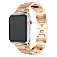 Diamond Link Stainless Steel Watch Band for Apple Watch 40mm / 38mm - Gold
