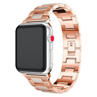 Diamond Link Stainless Steel Watch Band for Apple Watch 40mm / 38mm - Rose Gold