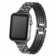 Luxury Bling Diamond Link Stainless Steel Watch Band for Apple Watch 40mm / 38mm - Black