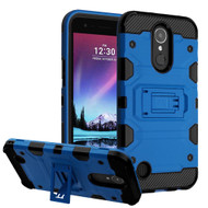 Military Grade Certified Storm Tank Hybrid Armor Case with Stand for LG K20 Plus / K20 V / K10 (2017) / Harmony - Blue