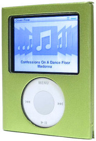 Flip-Top Aluminum Hard Case and Screen Protector for 3rd Generation iPod Nano (Green)