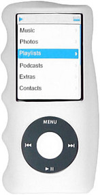 Hand Grip Silicone Sleeve for 4th Generation iPod Nano (Clear)