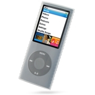 Super Grip Silicone Skin Case for 4th Generation iPod Nano (Clear)
