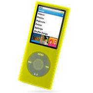 Super Grip Silicone Skin Case for 4th Generation iPod Nano (Yellow)