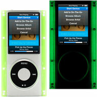 Glow In The Dark Clear Acrylic Hard Case for 4th Generation iPod Nano 4G (Neon)