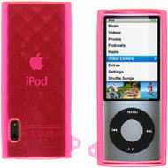 Crystal Rubber Case for 5th Generation iPod Nano 5G (Diamond/Pink)