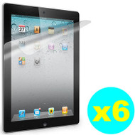 Crystal Clear Screen Protector for iPad 2, iPad 3 and iPad 4th Generation - 6 Pack