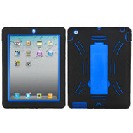 Impact Armor Kickstand Hybrid Case for iPad 2, iPad 3 and iPad 4th Generation - Black Blue