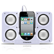 *DAILY DEAL* Naztech N40 Portable Speaker System Dock - White