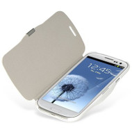 *CLEARANCE* Book-Style Hybrid Case for Samsung Galaxy S3 - White