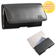 Leather Folio Hip Case - Black Napa