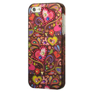 *CLEARANCE* Graphic Rhinestone Case and Screen Protector for iPhone SE / 5S / 5 - Secret Garden