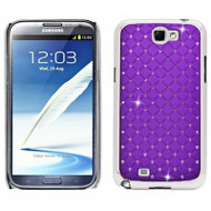 *CLEARANCE* Luxurious Chrome Spot Diamond Case for Samsung Galaxy Note II (Purple)