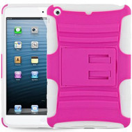 *SALE* Advanced Armor Hybrid Kickstand Case for iPad Mini - Hot Pink White
