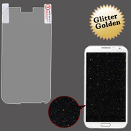 Glitter Full Screen Protector for Samsung Galaxy Note II (Gold)