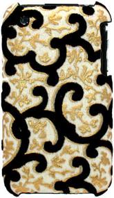 Velvet Series Glitter Back Cover for iPhone 3G / 3GS (Floral/White)