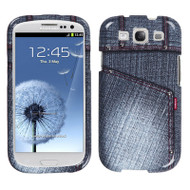 Snap-On Protective Image Case for Samsung Galaxy S3 - Jeans Black