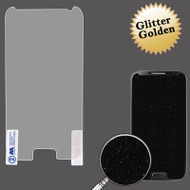 Glitter Full Screen Protector for Samsung Galaxy S4 (Gold)