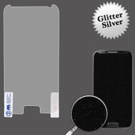 Glitter Full Screen Protector for Samsung Galaxy S4 (Silver)