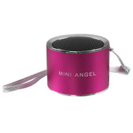 Mini Aluminum Mobile Speaker with Micro SD Card Player - Hot Pink