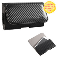 Leather Folio Hip Case - Carbon Fiber 27588